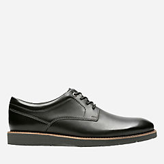 Folcroft Plain Black Leather mens-oxfords-lace-ups