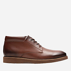 Folcroft Mid Dark Tan Leather mens-casual-shoes