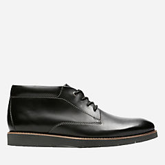 Folcroft Mid Black Leather mens-casual-shoes