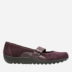 Medora Frost Aubergine Leather/Suede Combo womens-wide-width