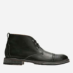 Clarkdale Jean Black Leather mens-casual-boots