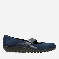 Medora Frost Navy Leather/Suede Combo womens-wide-width
