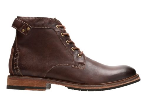 Clarkdale Bud Mahogany Leather Men S Casual Boots