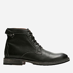Clarkdale Bud Black Leather mens-casual-boots