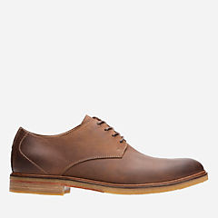 Clarkdale Moon Dark Tan Leather mens-oxfords-lace-ups