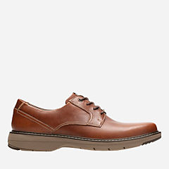 Cushox Pace Dark Tan Leather mens-oxfords-lace-ups