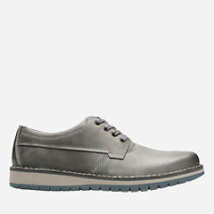 Varby Stride Dark Grey Lea mens-oxfords-lace-ups