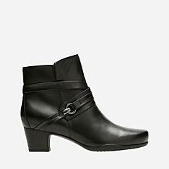 Rosalyn Page Black Leather womens-narrow-width