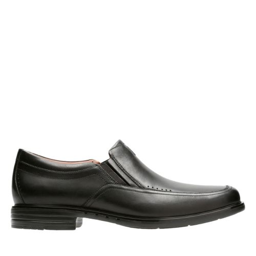 Unbrylan Lane Black Leather mens-loafer-slip-on