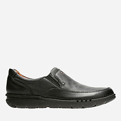 Unnature Easy Black Tumbled Leather mens-loafer-slip-on