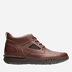 Unnature Mid Brown Tumbled Leather mens-unstructured