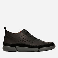 Trifri Hi Black Leather mens-active