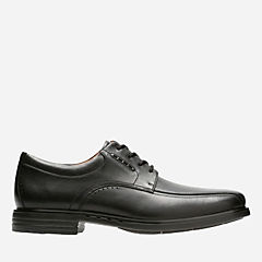 Unkenneth Way Black Leather mens-unstructured