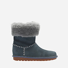 Greeta Ace Toddler Grey Suede girls-boots