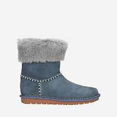 Greeta Ace Jnr Grey Suede girls-boots