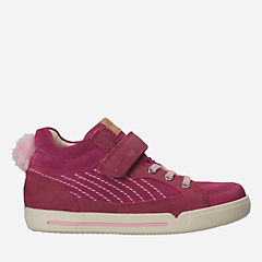 Lil Folk Boo Toddler Pink Leather girls-sneakers