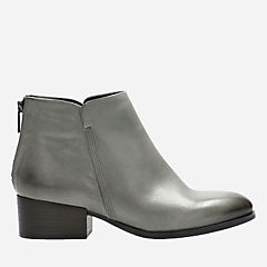 Elvina Dawn Taupe Leather womens-ankle-boots