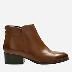 Elvina Dawn Tan Leather womens-ankle-boots