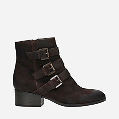 Elvina Haze Dark Brown Suede womens-ankle-boots