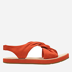Romantic Lilac Orange Nubuck womens-flat-sandals
