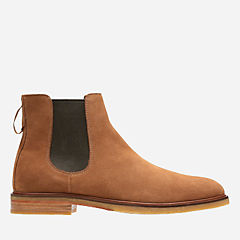Clarkdale Gobi Tobacco Suede mens-casual-boots
