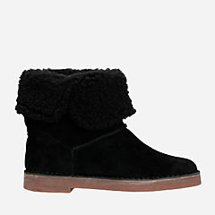 Drafty Haze Black Suede womens-ankle-boots