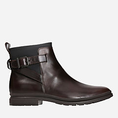 London Stride Dark Brown Lea mens-boots