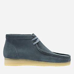Wallabee Boot Slate Blue Suede originals-mens-boots