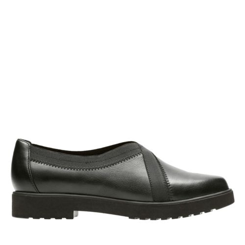 Bellevue Cedar Black Leather womens-medium-width