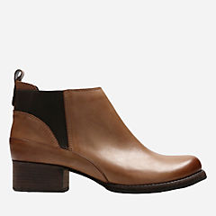 Monica Pearl Tan Leather womens-ankle-boots