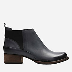 Monica Pearl Dark Grey Leather womens-ankle-boots