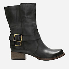 Monica Soul Dark Grey Leather womens-midcalf-boots