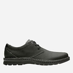 Vanek Plain Black Leather mens-wide-width