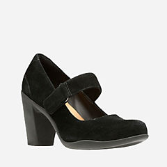 Adya Clara Black Suede womens-ortholite