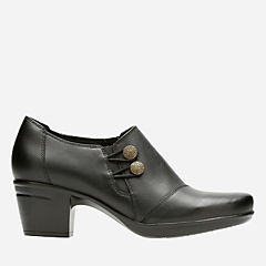 Emslie Warren Black Leather womens-narrow-width