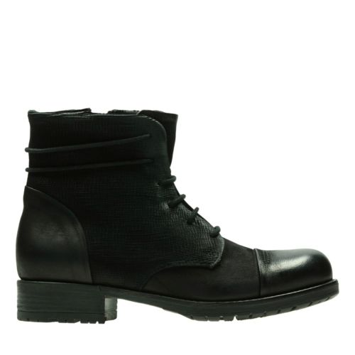 Adelia Stone Black Leather Women S Booties Amp Ankle Boots
