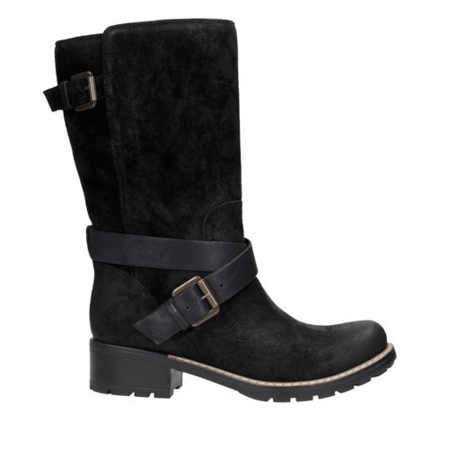 Lallana Beat Black Suede womens-midcalf-boots