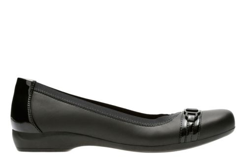 Kinzie Light Black Leather/Synthetic Patent womens-wide-width