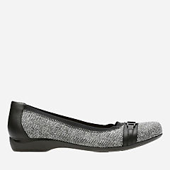 Kinzie Light Tweed/Leather Combo womens-wide-width