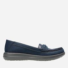 Jocolin Maye Navy Synthetic Nubuck sale-womens-flats