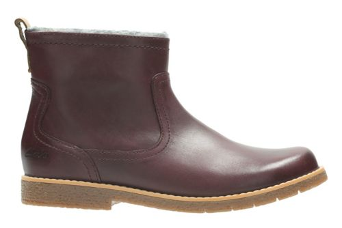 Tildy Moe Jnr Burgundy Leather girls-boots
