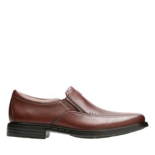 Unsheridan Go Brown Leather mens-loafer-slip-on