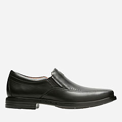 Unsheridan Go Black Leather mens-loafer-slip-on