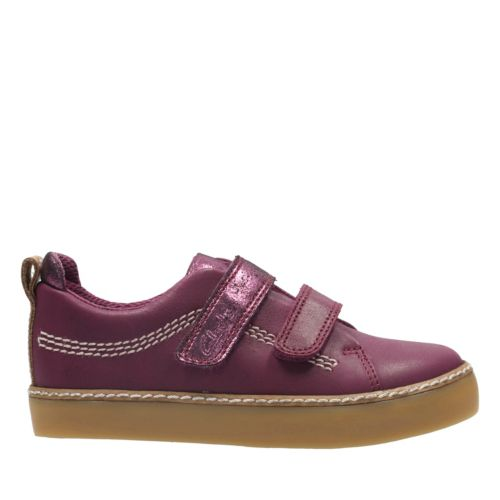 Brill Sky Toddler Plum Leather girls-sneakers