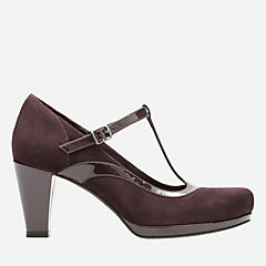 Chorus Pitch Aubergine Leather Combi womens-heels