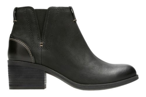 Maypearl Daisy Black Leather womens-ankle-boots