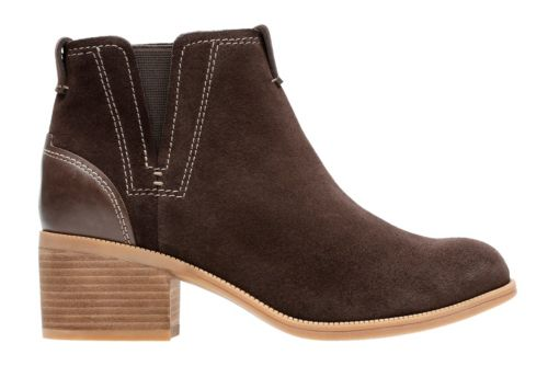 Maypearl Daisy Dark Brown Suede and Leather womens-ortholite