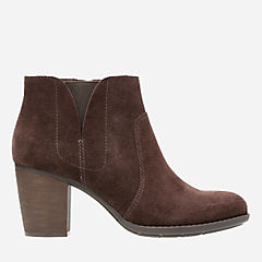 Enfield Senya Dark Brown Suede womens-ortholite