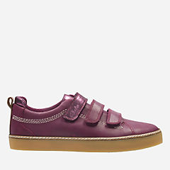 Brill Sky Youth Plum Leather girls-sneakers