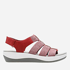 Arla Shaylie Red/White Heathered Elastic womens-sandals-view-all